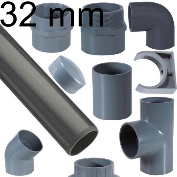 PVC Rohr und Verbinder 32 mm