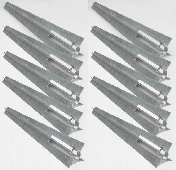 Pfostenträger Ø 34 mm Einschlaghülse Bodenhülse Zaun-pfosten Maschendrahtzaun Pfostenhalter