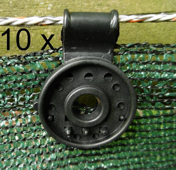 10 Halte Clip Halter Befestigung f. Windschutz netz gewebe Sichtschutz Blende
