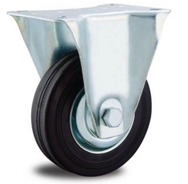 Rolle Transportrollen 150 mm Gummi schwarz Kugellager Vollgummi Reifen Fadenschutz