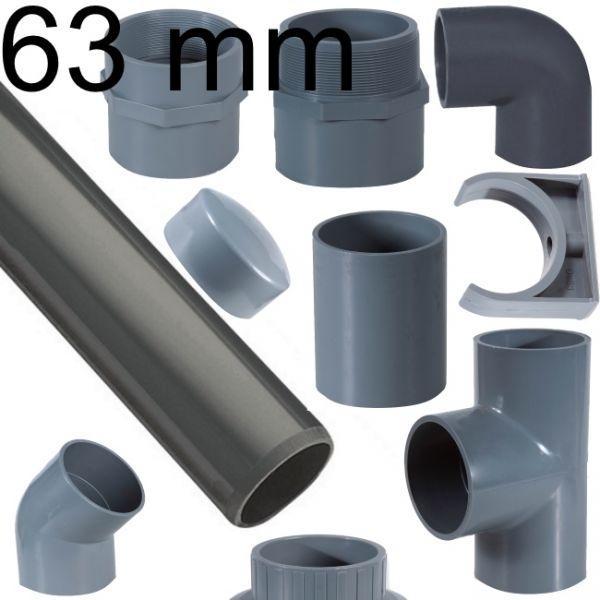 PVC Rohr und Verbinder 63 mm