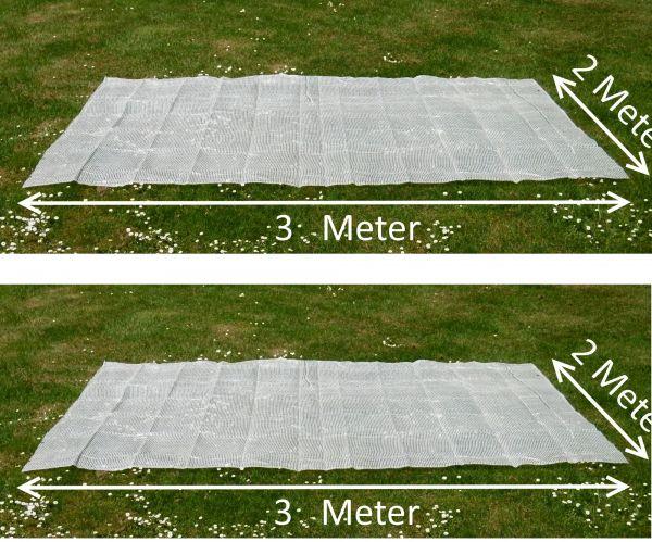 2 Gitterfolien 12 qm transparent weiß Winterschutz Windschutz Sichtschutz Frühbeet
