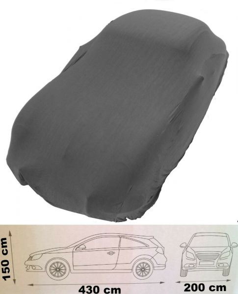 Auto-Plane Passform Abdeckung grau 4,30 m Indoor Car Cover Ganzgarage Schutzdecke KFZ Oldtimer