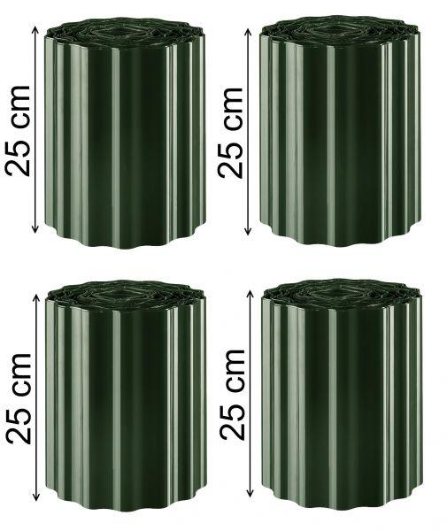 Kanteneinfassungen Beetumrandungen Rasenkanten Beeteinfassungen grün 36m x 25cm