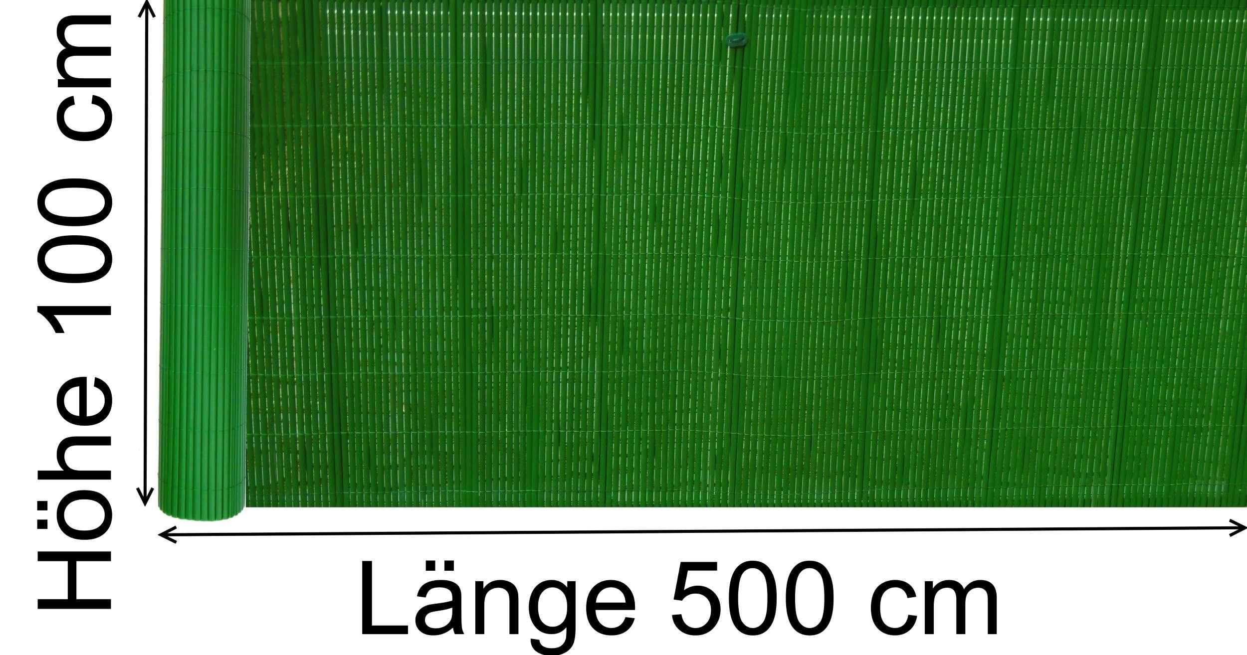 Sichtschutz Camping Pvc Sichtschutzmatte 100x500 Cm Grun Balkon