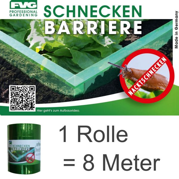 8 m Schnecken-barriere Schnecken-schutz Schnecken-sperre Schnecken-stopp Schneckenzaun