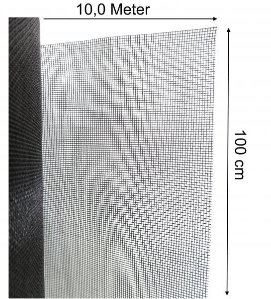 Mückenschutz Fliegennetz Insektengaze Mückengitter aus Fiberglas 100cm x 10m