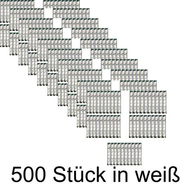 500 x Baum Manschette weiß
