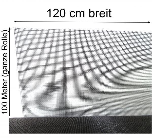 Fliegennetz Fliegengitter Insektenschutz Mückengaze Fiberglas 1,2m x 100m Rolle