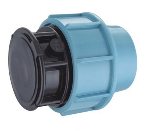 PE Endkappe Fitting für PE Rohr 25 mm