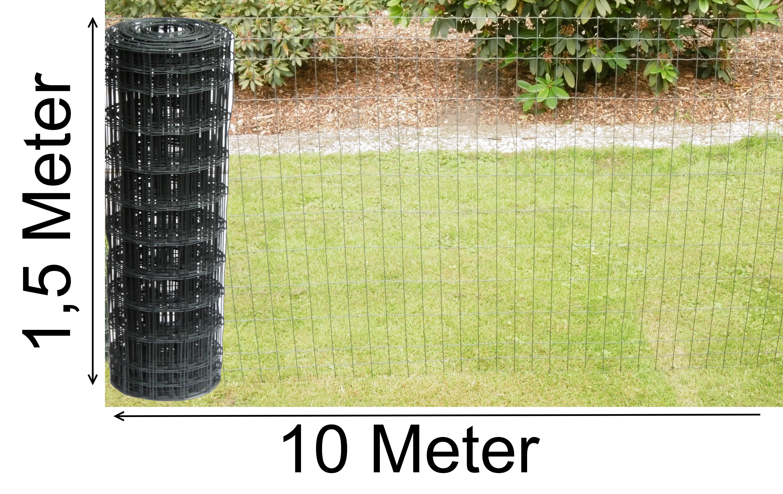 1 5m Hoch 10m Gartenzaun Grau Anthrazit Gitterzaun Maschenzaun
