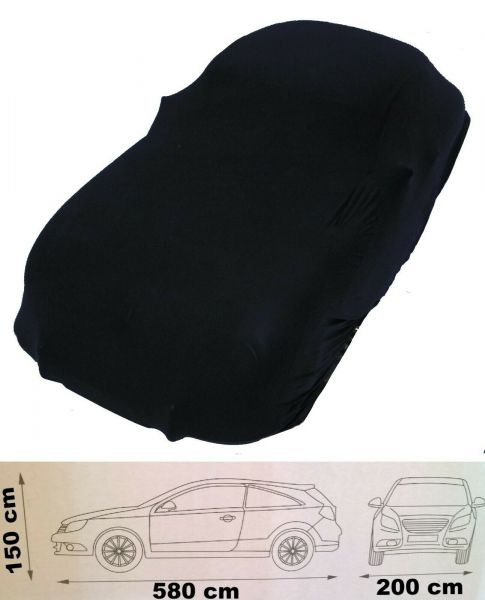 Auto Schutzhaube 5,8 m schwarz Schutzhülle Abdeckung Plane elastisch Oldtimer