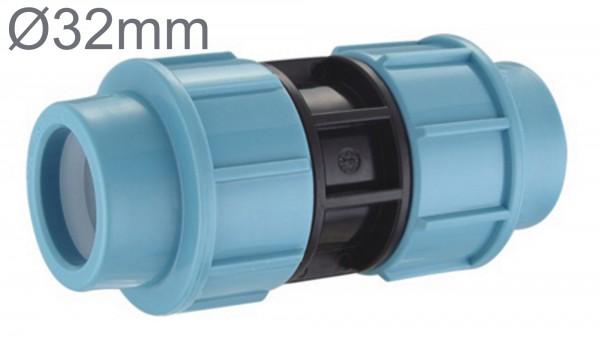 PE Rohr 32 mm Muffe Verbinder