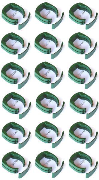 18 x 34 mm Zaun Pfosten Halter Clip Gartenzaun Schweißdraht Gartengitter grün Drahthalter