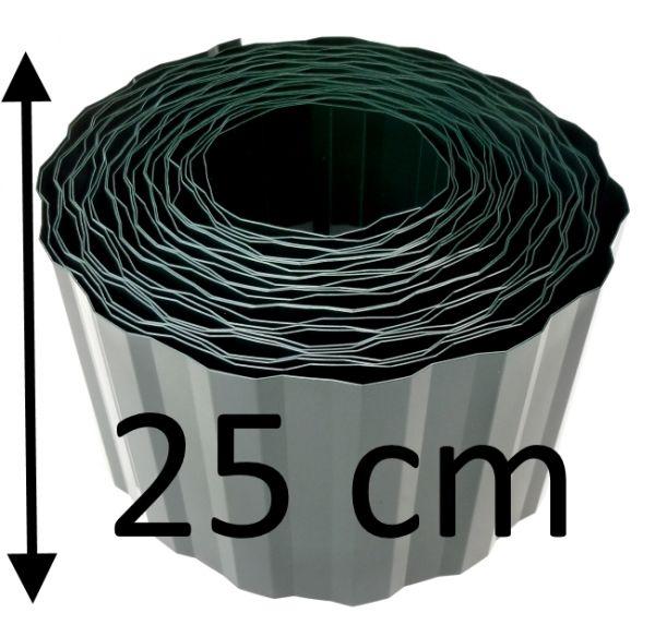 1 Rolle Rasenkante 9m x 25cm für 0,76€/m Beeteinfassung Beetumrandung Mähkante Palisade