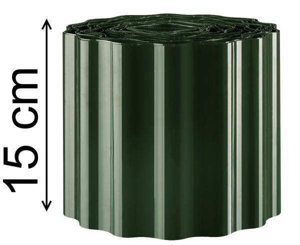 Rasen Kante Beeteinfassung 0,66€/m Rasen Begrenzungen Sinus Welle grün 9mX 15 cm
