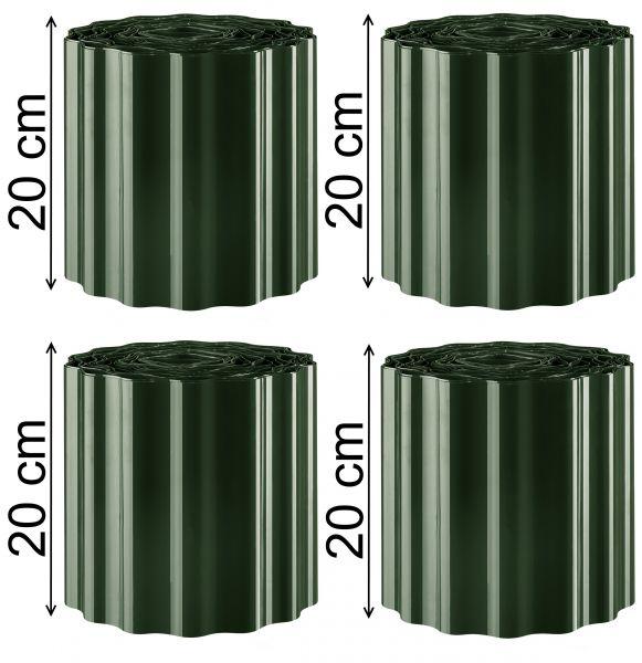 Rasenkante Beeteinfassung 20cm hoch Welle Rasenbegrenzung Raseneinfassung grün