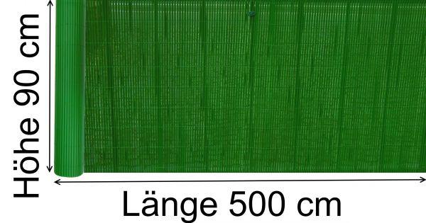 Balkon PVC Sichtschutz 90 x 500 cm tanne grün