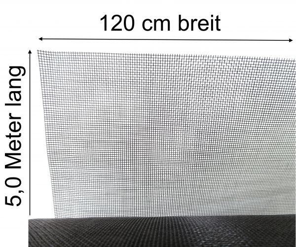 Mückennetz Fliegengitter Insektenschutz Mückengaze Fiberglas 120cm x 5m lang