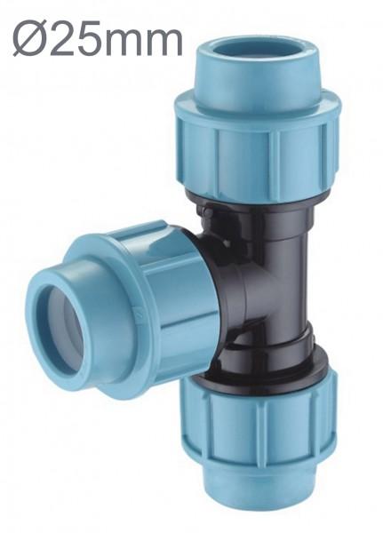 PE Rohr T-Stück Ø 25 mm Verschraubung Trinkwasser Klemm Verbinder Klemm Fittings