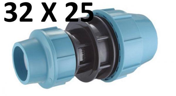 PE Rohr Verbinder 32 mm auf 25 mm Muffe Klemmfitting
