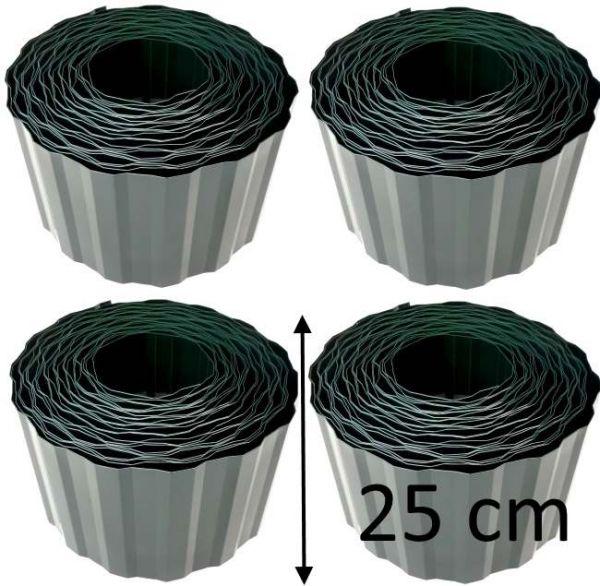 4 Rollen Beetumrandung je 9m x 25cm 0,72€/m Beeteinfassung Raseneinfassung Rasenkante Palisade